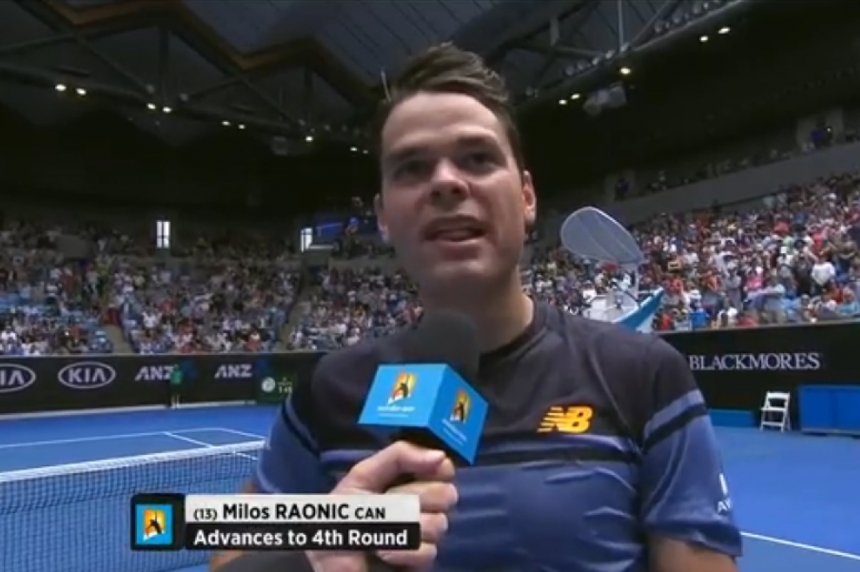 Canadian Milos Raonic dedicates Aussie Open win to victims of shooting