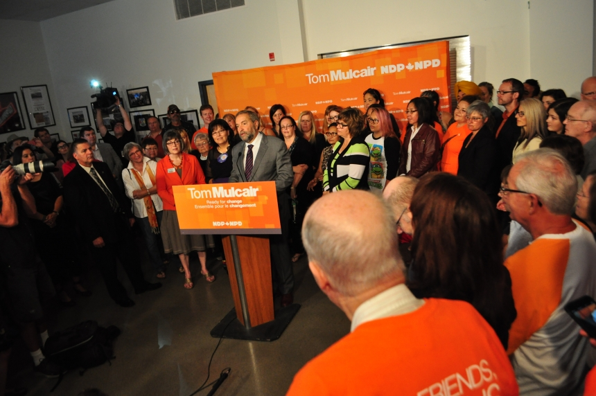 UPDATE: Mulcair visits Saskatoon, pledges more help for women's shelters