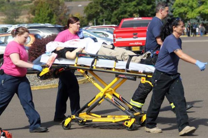 Gunman in Oregon college shooting confirmed dead