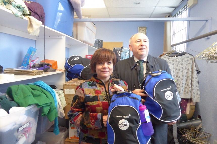 SaskTel donating backpacks, blankets across the province to help people stay warm