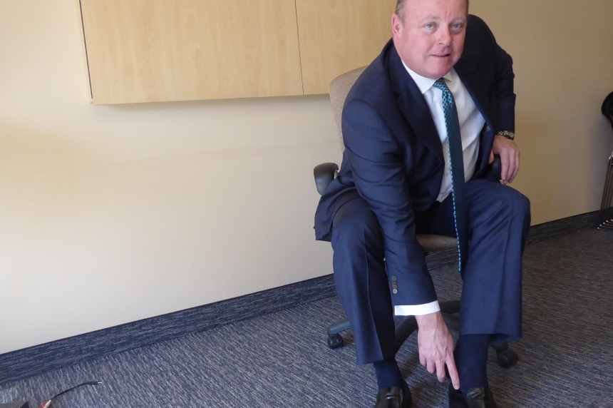 Sask. finance minister considers symbolic shoes ahead of tough budget