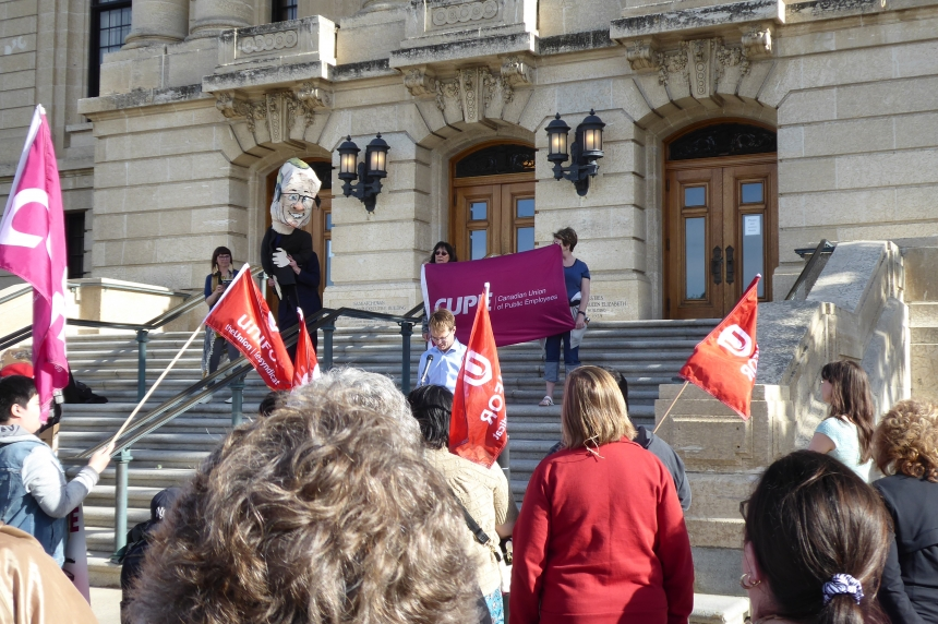 CUPE holds rally as spring legislative session about to end