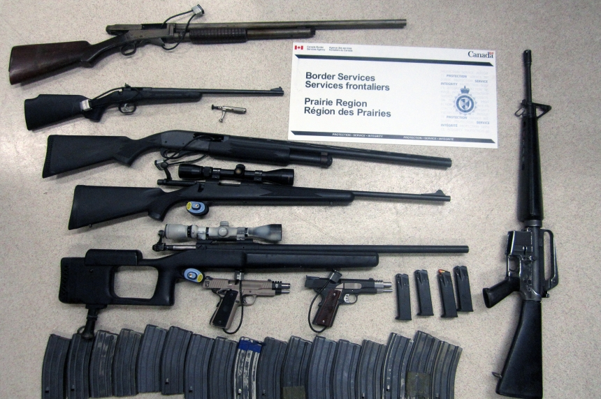 43 undeclared firearm seizures part of 'banner year' for Sask. border crossings