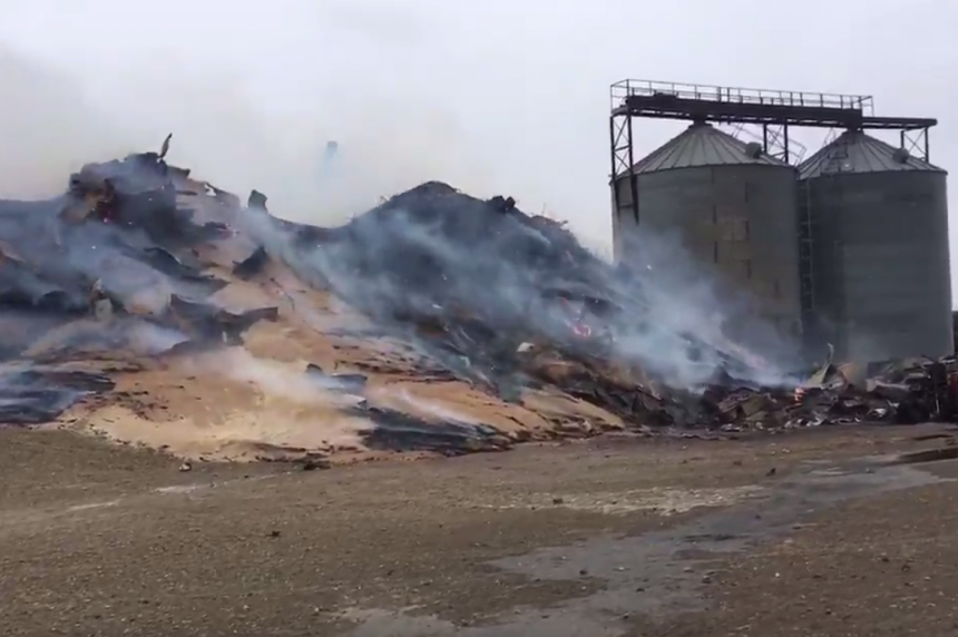Sask. community loses grain elevator to fire