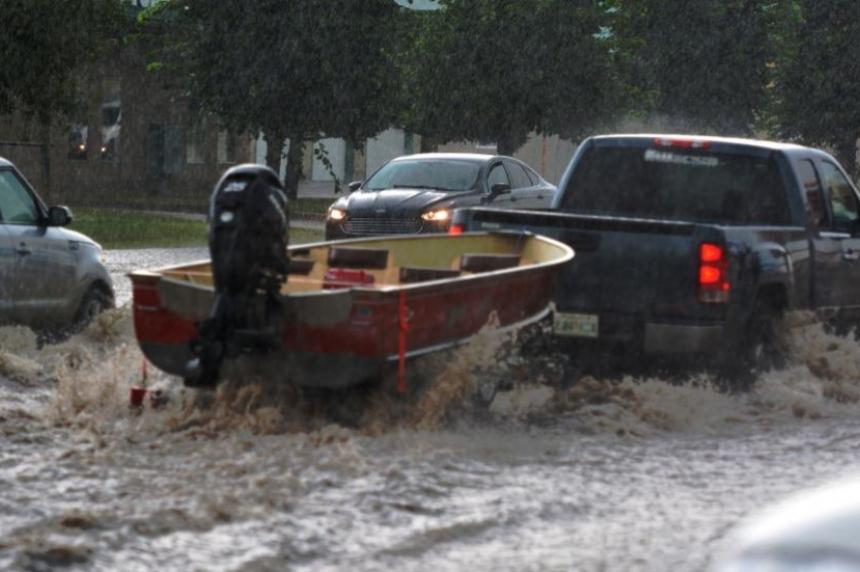 Prince Albert streets flood during water shortage
