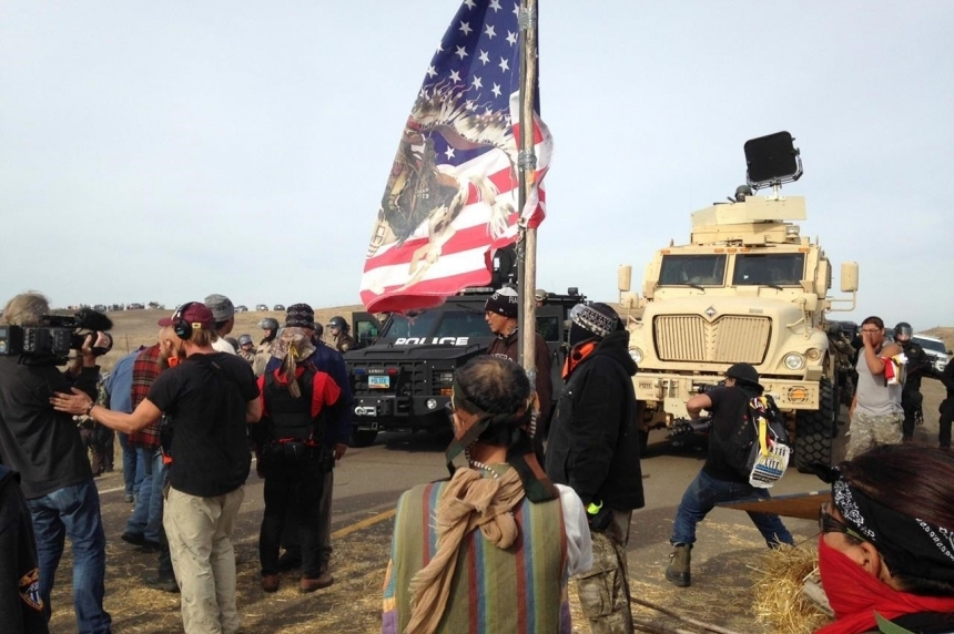 Police evict oil pipeline protesters from private land