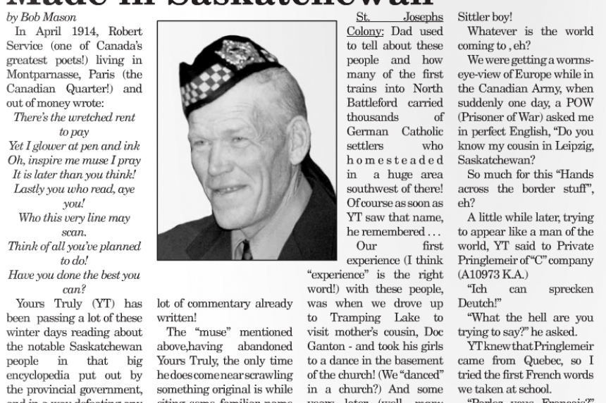 """""""That's the history of me"""" Sask. veteran shares life stories, lessons in weekly column"""