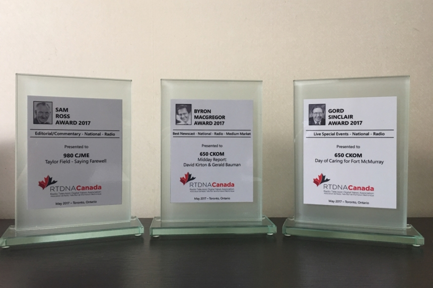 Rawlco earns national awards for on-air work