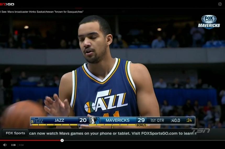 NBA  announcer calls Saskatchewan a land of Sasquatches