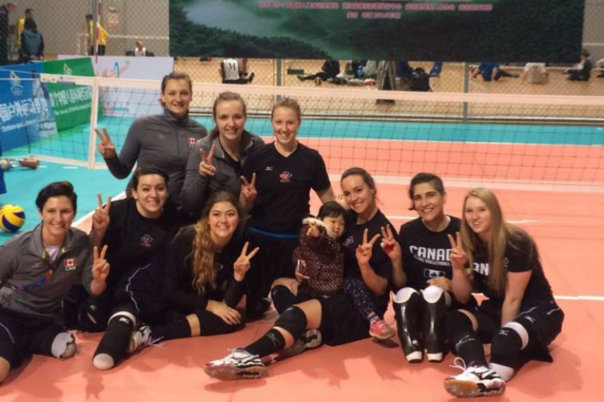 Melfort para athlete competes for Canada in World Championships sit volleyball