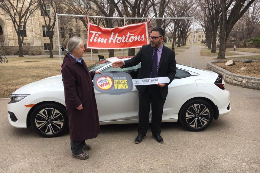Saskatoon woman Rolls Up the Rim for new car