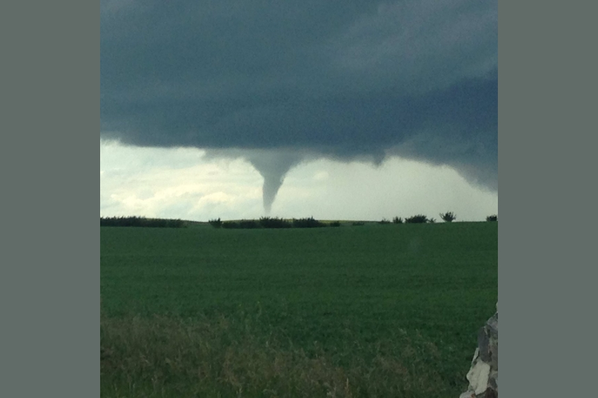 PHOTOS: Tornado touches down west of Biggar