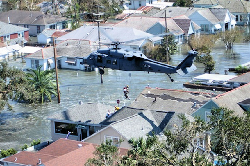 "Saskatoon man recalls Hurricane Katrina like ""being in the aftermath of a war zone"""