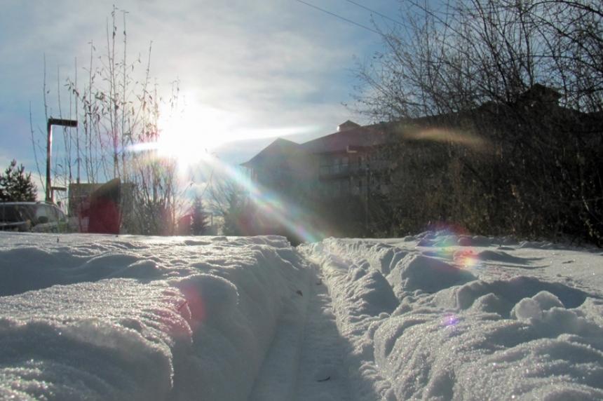 Warm February weather across Saskatchewan