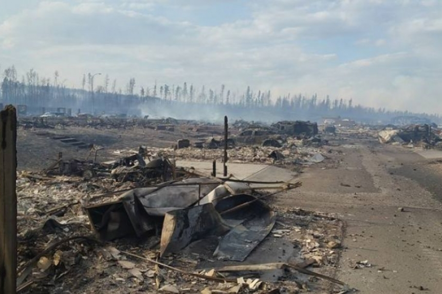 """It's like a war zone"": firefighter describes exhausting efforts in Fort McMurray"