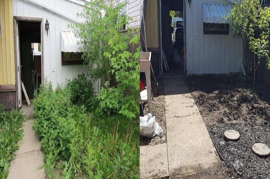 Neighbours step up to beautify Saskatoon woman's backyard