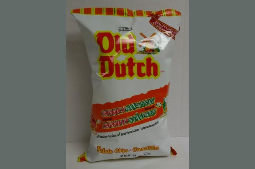 Old Dutch chips recalled due to salmonella concerns