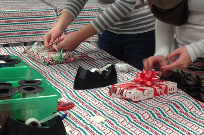 Wrapping and ribbons to raise money