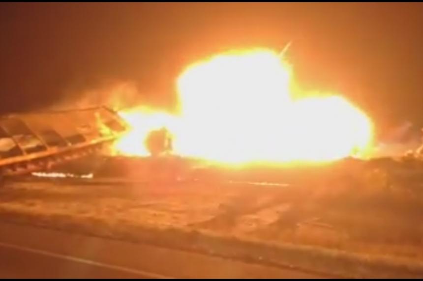 VIDEO: Clair 2014 derailment fireball caught on film by volunteer firefighter