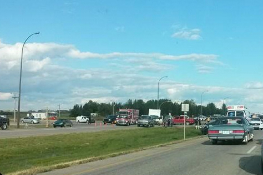 Collision at Pilot Butte turnoff