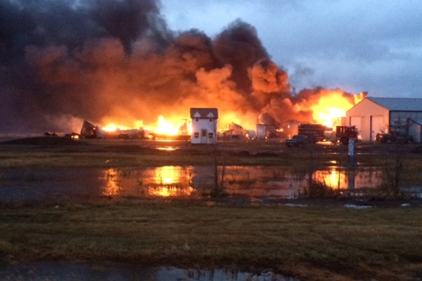 Fire destroys building in Regina Beach