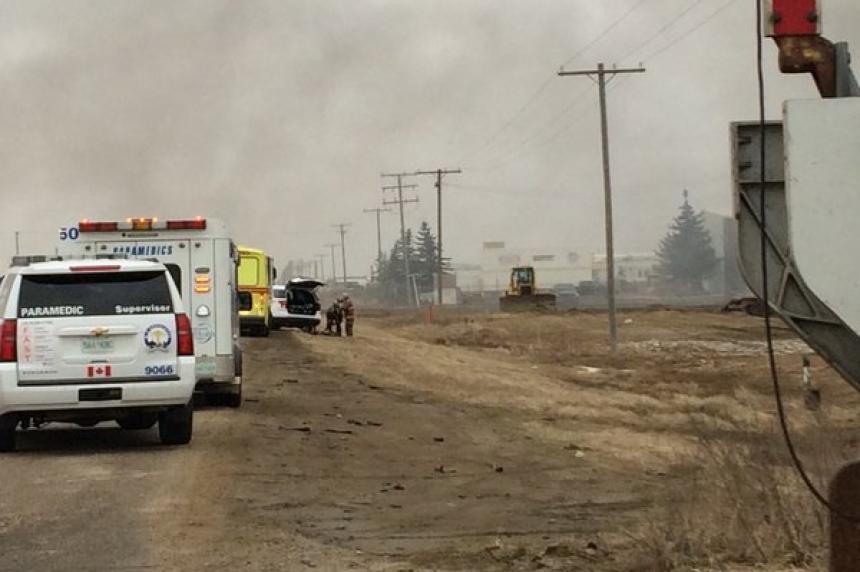 Crews battle massive fire at Shercom Industries overnight