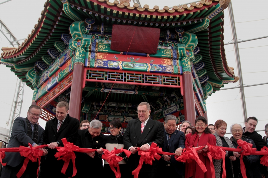 A beautiful Ting; Chinese community unveils new gazebo
