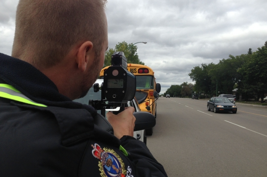 Nearly 700 school zone speeding tickets last month in Sask.