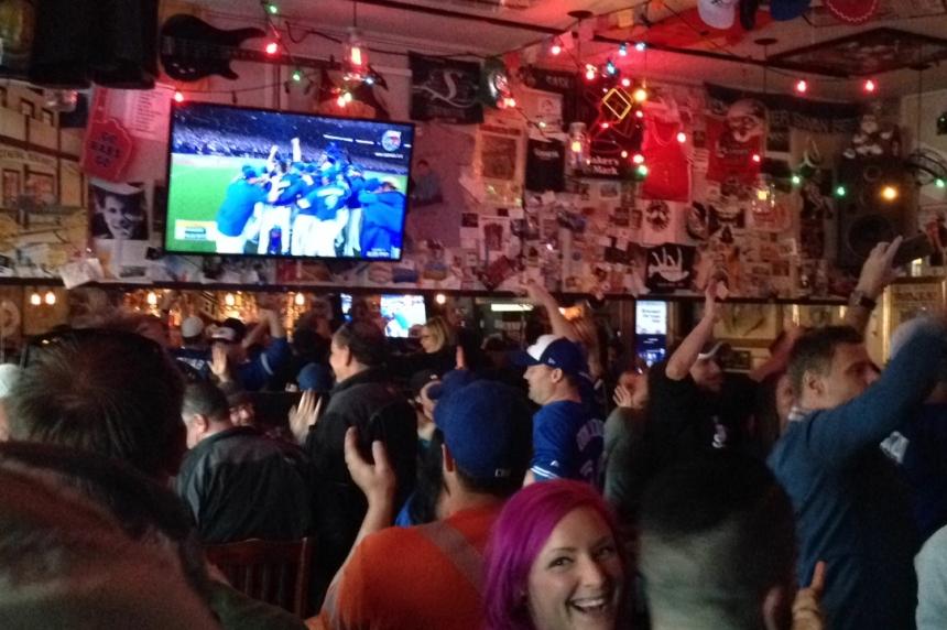 Regina baseball fans celebrate Blue Jays' wild win