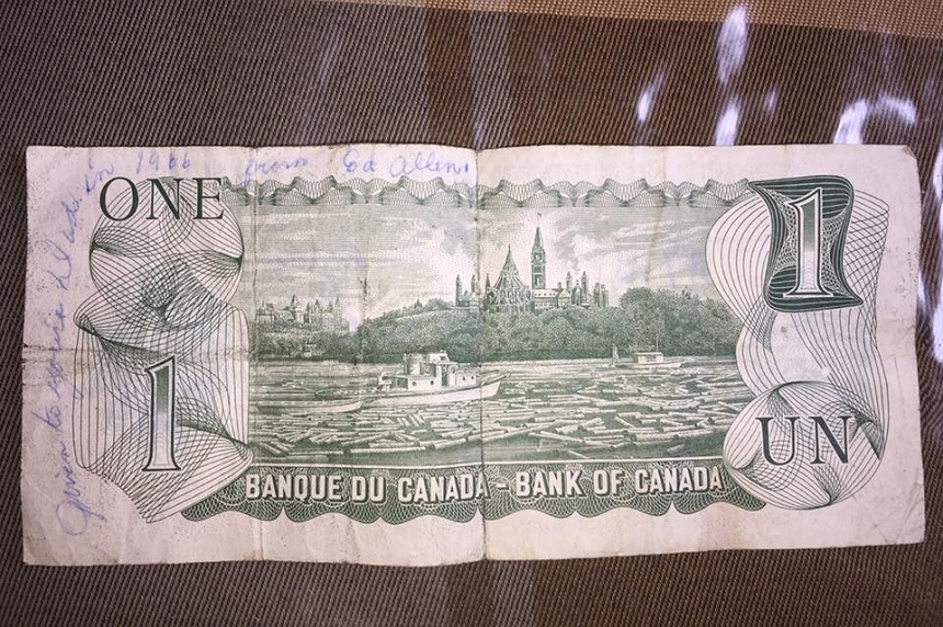 Long-lost $1 bill returned to family of original owner