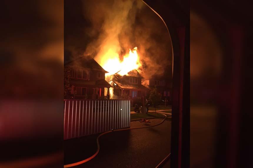 Blaze causes heavy damage to Stonebridge home