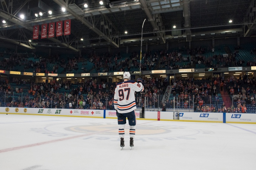 Oilers win as Connor McDavid show comes to Saskatoon