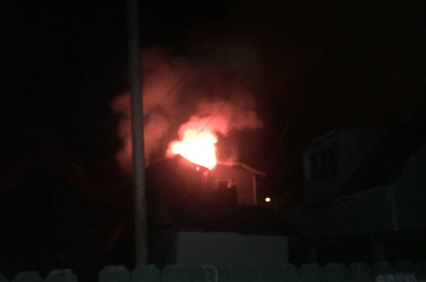 5 hospitalized after Avenue F house fire