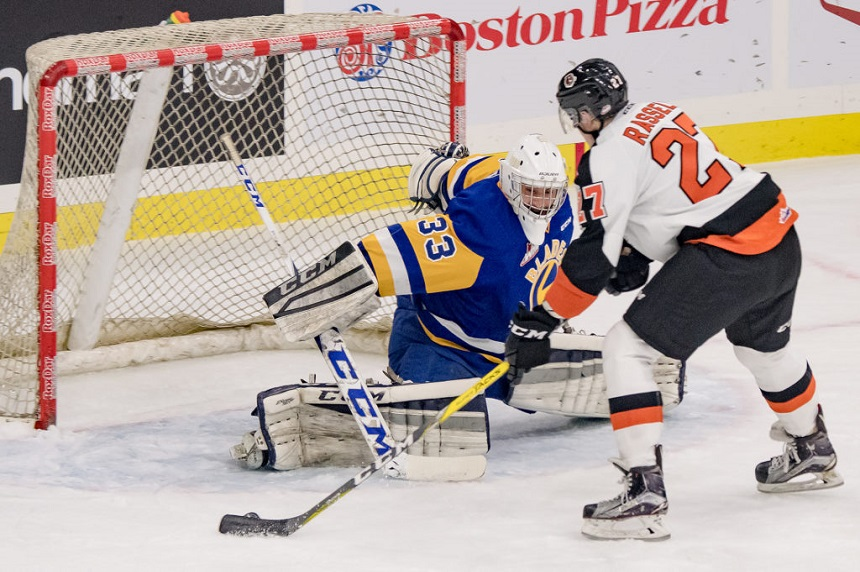 Blades lean on young goalies to start long weekend