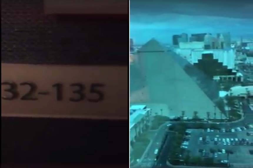 Man posts chilling video of hotel room used by Vegas shooter