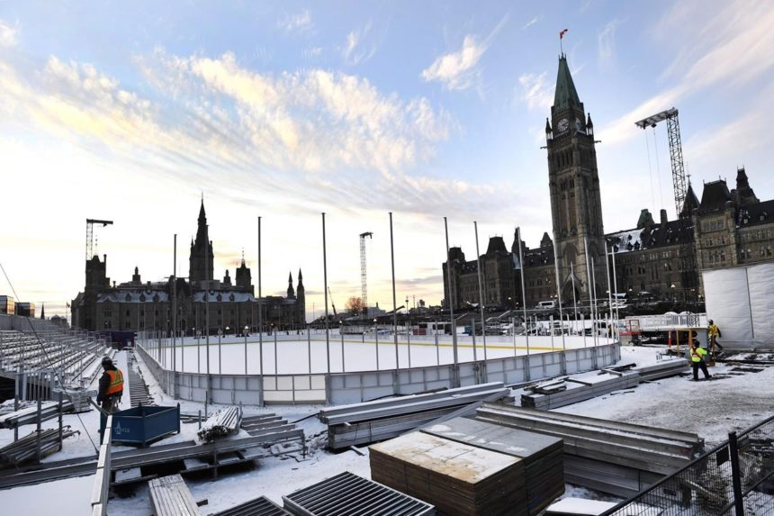 Canada's 150 year ends on ice, but no hockey pucks, triple jumps allowed