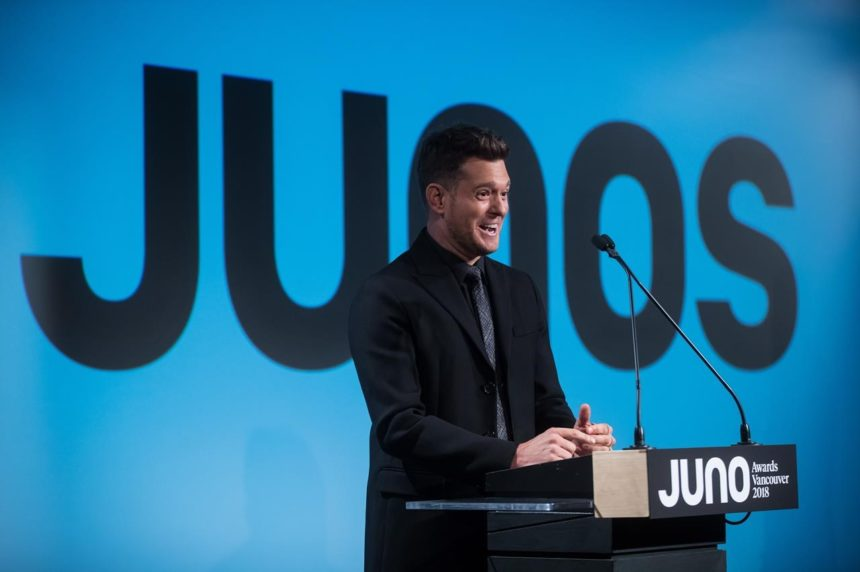 Canadian singer Michael Buble is 2018 Juno Awards host to be held in Vancouver