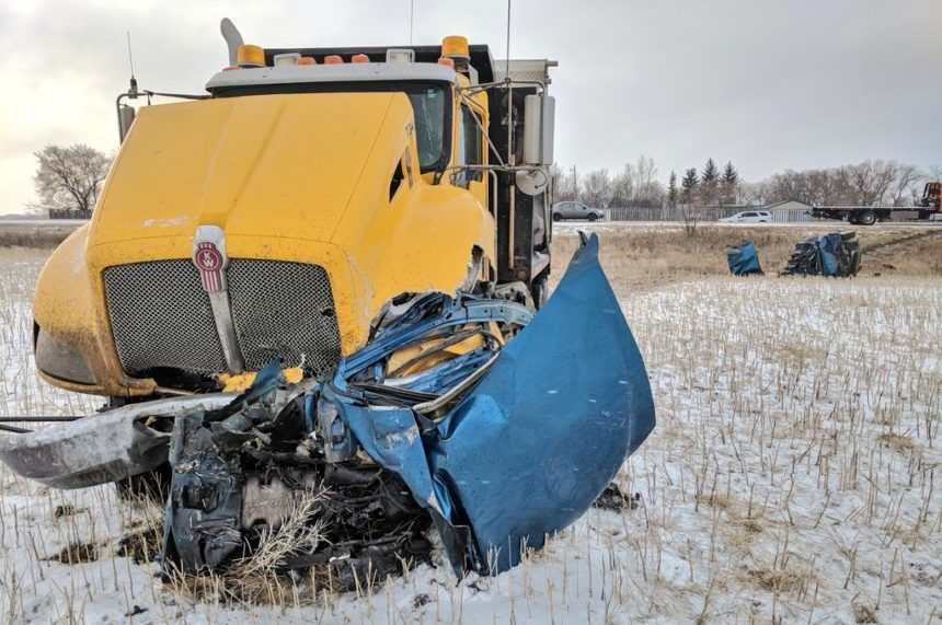 1 dead in crash with gravel truck on Highway 5