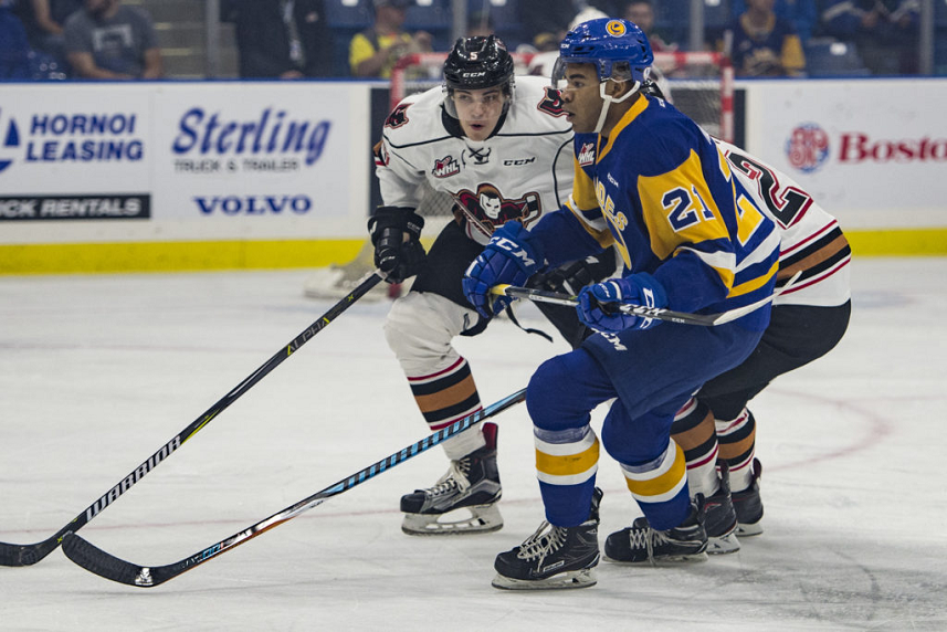 Blades trade MacKenzie to Red Deer