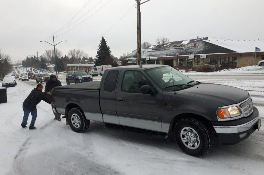 Drivers faced with slick city streets in Saskatoon