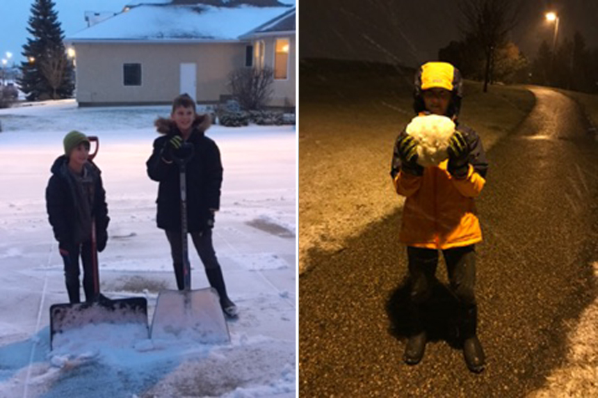 Australian family experiences first snowfall in Saskatoon