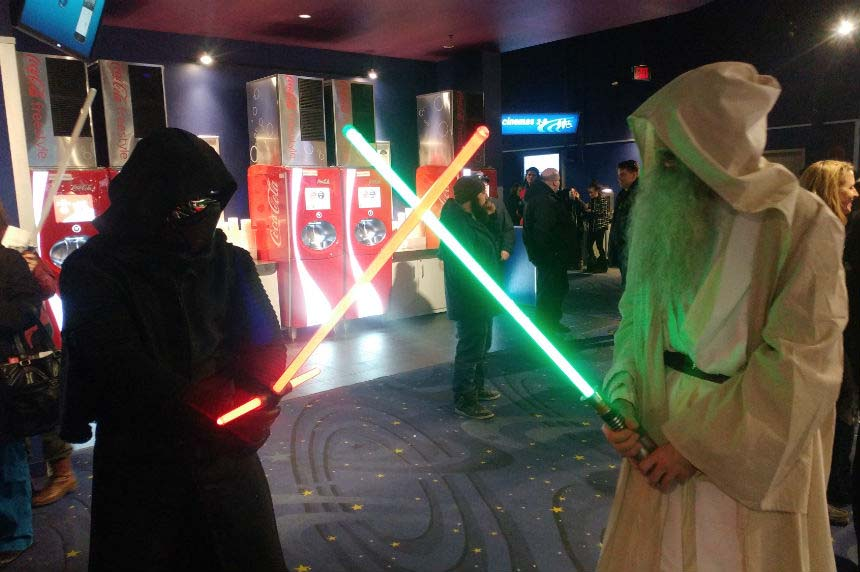 Star Wars fans flock to preview shows of The Last Jedi