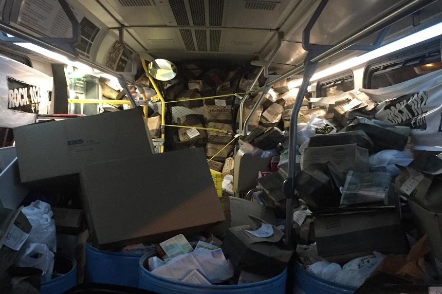 Rock 102 stuffs bus of food, raises $102K for food bank