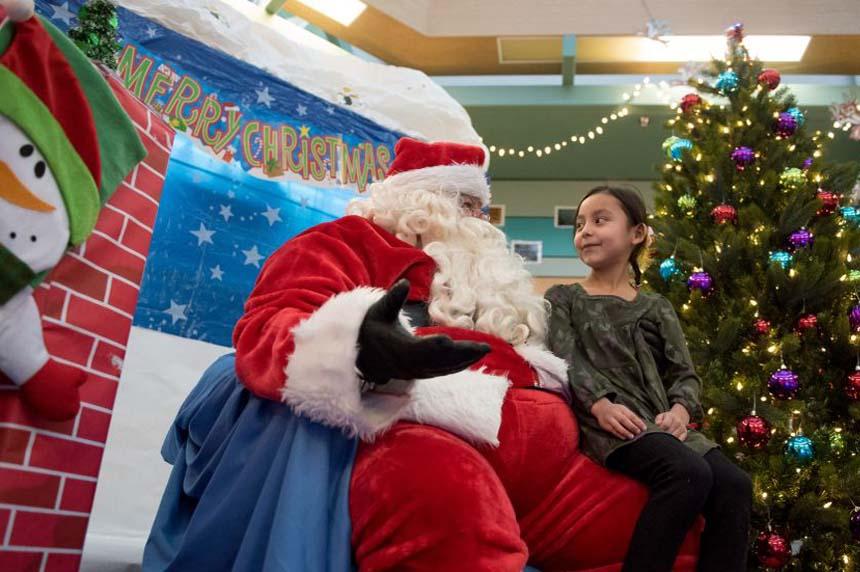 Santa brings early Christmas to northern communities