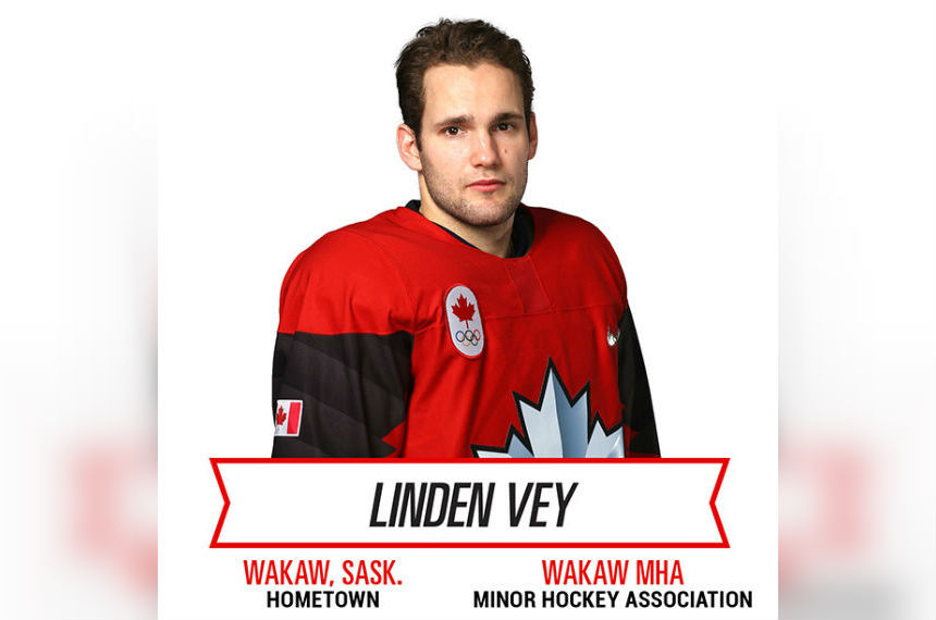 Wakaw Sask.'s Linden Vey named to Olympic hockey team