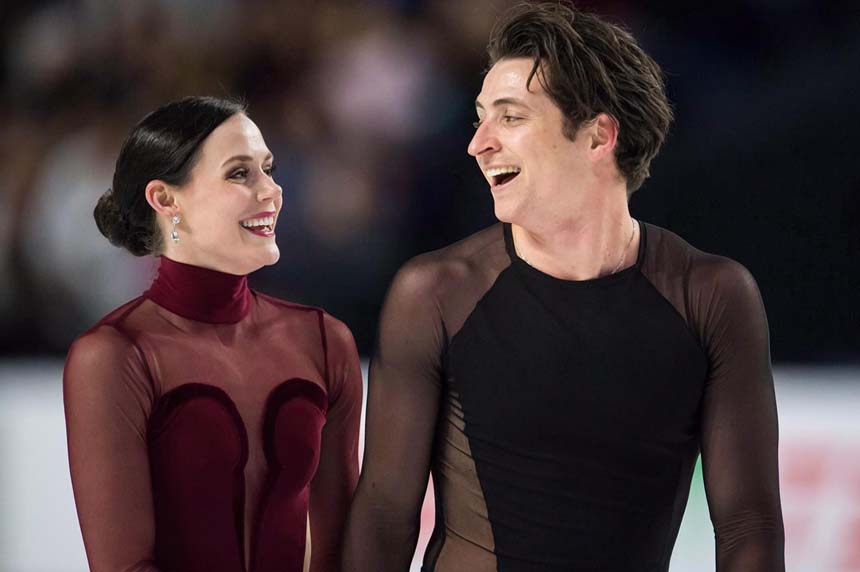 Ice dancers Virtue and Moir to carry flag at Pyeongchang Olympics