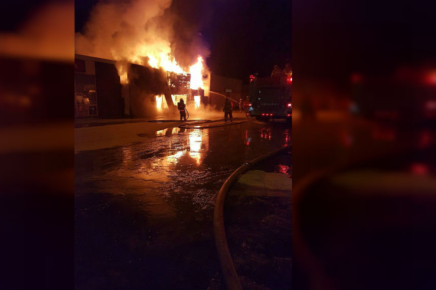 Several businesses destroyed by fire in Hudson Bay