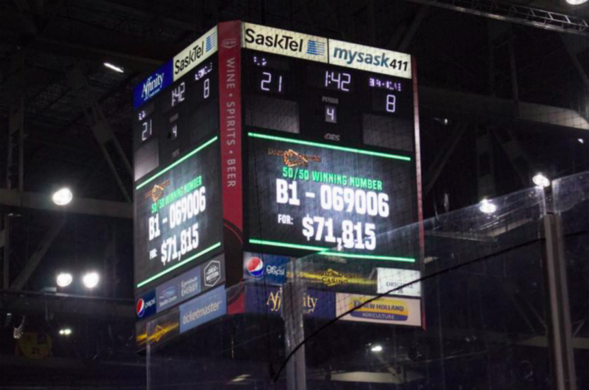 Saskatoon woman wins over $71K in Rush home opener 50/50