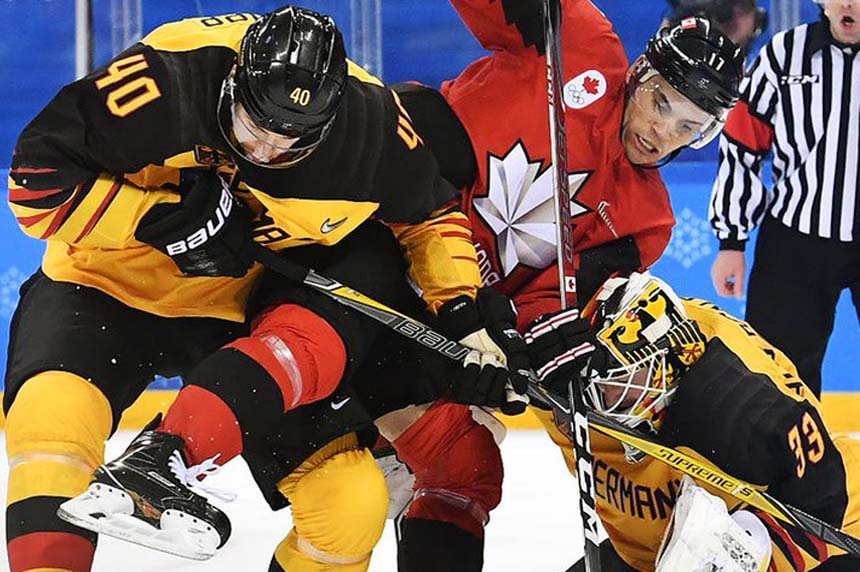 Canada falls to Germany in men's hockey semifinal, will play for bronze
