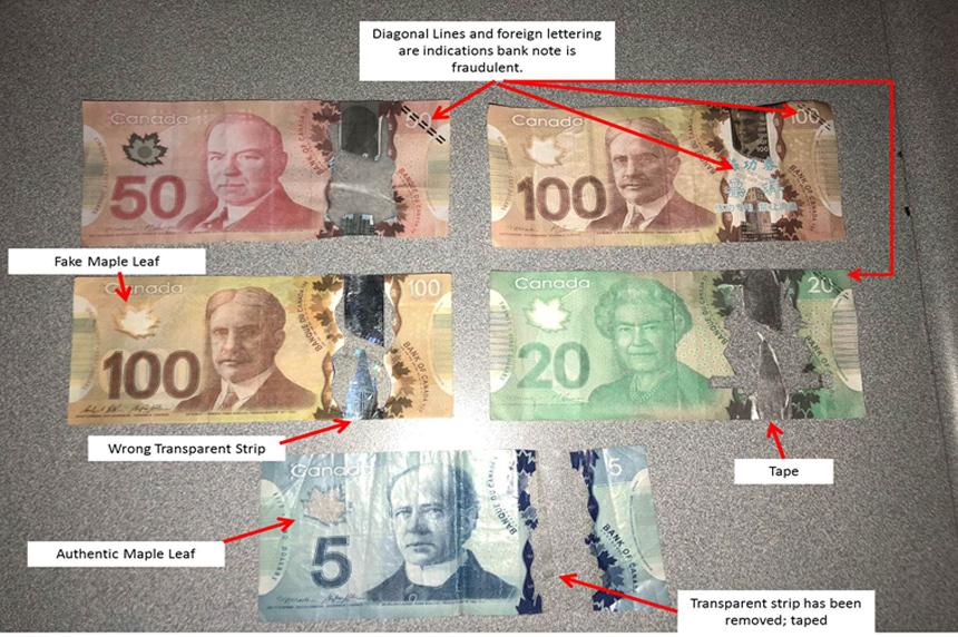 Police warn of counterfeit cash in Saskatoon
